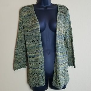 Two One Two (Anthropologie) Crochet Cardigan